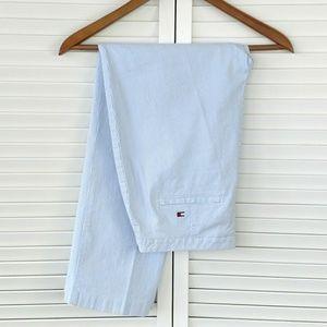Tommy Hilfiger golf pinstripe seersucker pants 8